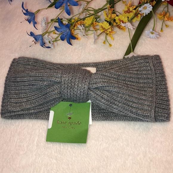 5c29226fd77 Kate Spade ♤ New York Gray Solid Bow Headband